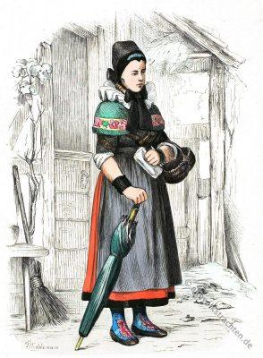 Minden, Westfalen, Klein-Bremen, Nordrhein-Westfalen, Volkstrachten, Deutschland, Tracht, Historische Kleidung, Kostümgeschichte
