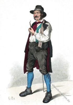 Gutachtal, Schwarzwald Tracht. Bauerntracht, Historisches Kostüm, Baden