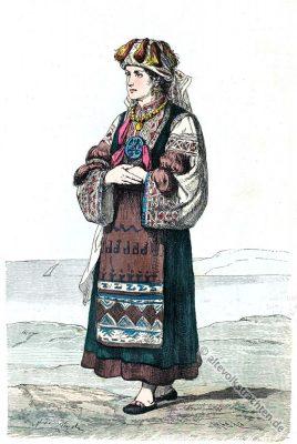 Maurowalachen, Morlachs, Historisches Brautkleid, Morlach, Istrien, Kroatien.