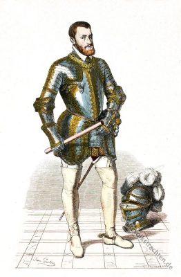 Deutscher Kaiser, Karl V., Rüstung, Harnisch, Renaissance, Kostümgeschichte