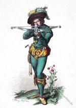 Kleidung eines Scheibenschützen. Ende des 16. Jahrhunderts.