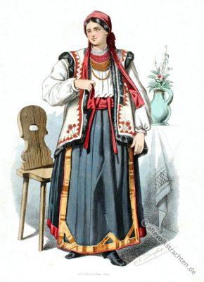Trachten, Ruthenien, Banat, Kostüm, Ukraine