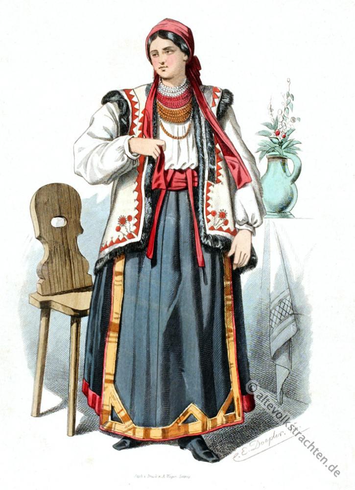 Ruthenien, Marmitas, Ukraine, Trachten