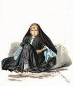 Fellah Kostüm eines ägyptischen Mädchens.
