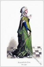 Burgundische Frau um 1450.