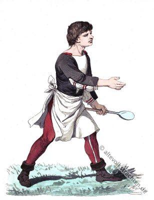 Alte Deutsche Tracht. Deutscher Koch. Historisches Renaissance Kostüm.