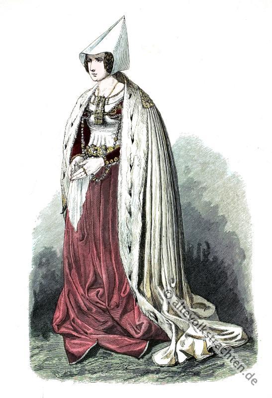Lübeck, Patrizier, Frau, Bürgerin, Kostüm, Renaissance, Modegeschichte, Lipperheide
