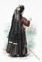 Bäuerin aus der Gegend von Weimar, Thüringen um 1880.