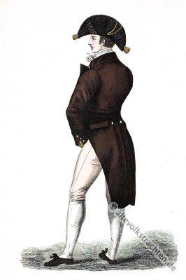Englischer Gentleman in der Mode des Regency. Edwardian Kostüm Epoche. Jane Austen Kostüme.
