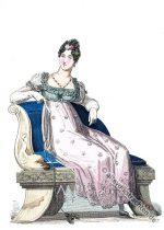 Regency Garderobe einer englischen Dame in 1814