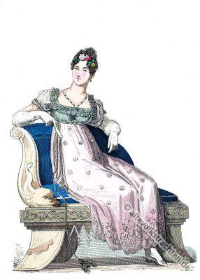 Dame, England, Mode, Regency, Edwardian, Kostüm, Jane Austen,