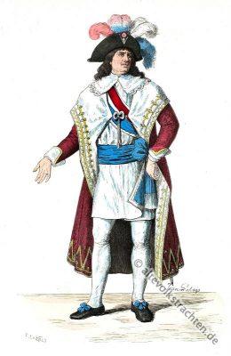 Kostüm der Französischen Revolution. Frankreich Kostümgeschichte. 18. Jahrhundert Kleidung