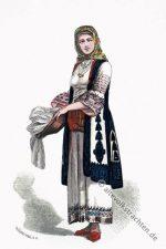 Frau aus Athen in traditioneller Tracht.
