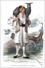 Griechischer Hirte aus der Gegend von Athen.