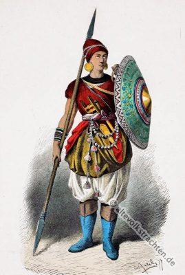 Indien, Mittelalter, Soldat, Lanzenträger, Lipperheide