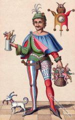 Till Eulenspiegel in der Tracht des 15. Jahrhunderts.