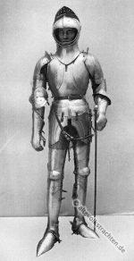 Ritter in Plattenharnisch um 1450.