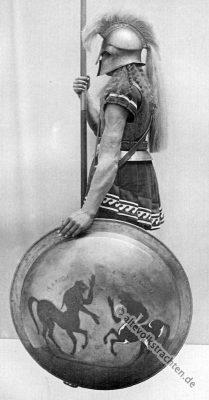 Hoplit, Antike, Griechenland, Krieger Kostüm, Rüstung, Bewaffnung, Elitesoldat