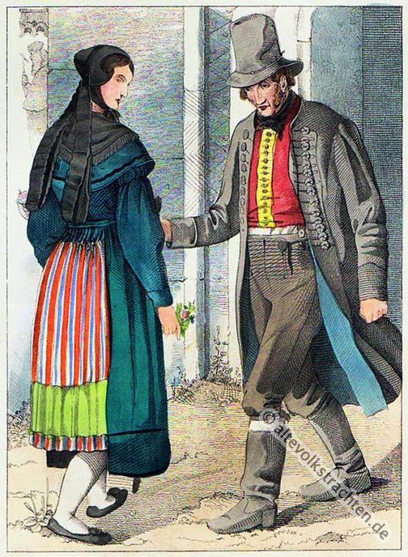 Magdeburg, Bauerntrachten, Trachten, Sachsen-Anhalt, Volkstrachten, historische Kleidung