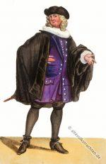 Historisches Canzlist – Anwalt Kostüm des Barock.