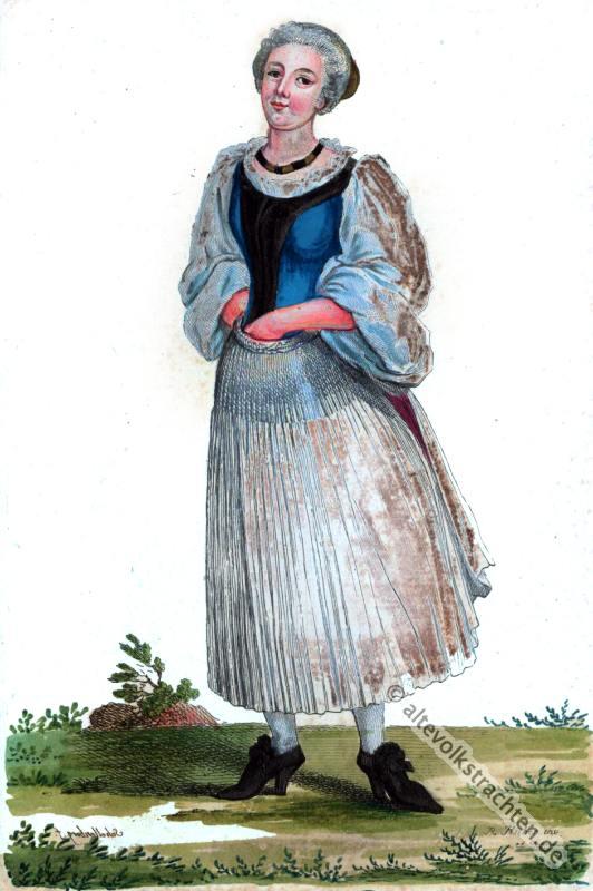 Basler Bürgerin, Barock, Kostüm, Kleidung