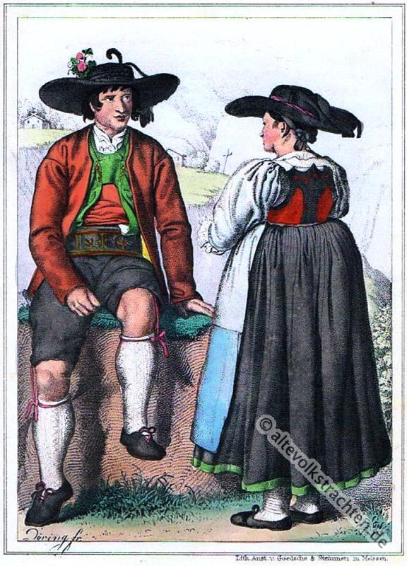 Sarntal, Tirol, Bauerntrachten, Trachten, Volkstrachten, historische Kleidung, Modegeschichte, Kostümgeschichte