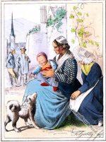 Frauentrachten aus dem Ahrtal bei Koblenz.