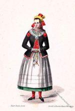 Saaltracht. Mariabildjungfrau. Unterfranken um 1850.