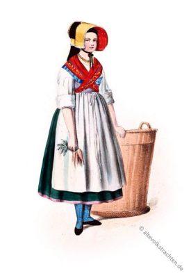 Sennfeld. Schweinfurt. Unterfranken. Alte Bayerische Trachten. Historische Kostüme. Original Dirndl