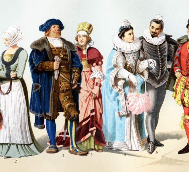 Renaissance Kostüme. 16. Jahrhundert Mode.