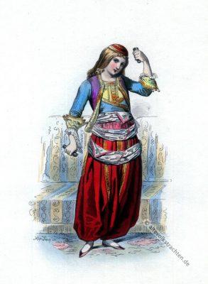 Griechische Tracht. Griechenland Volkstrachten. 19. Jahrhundert Kostüm.
