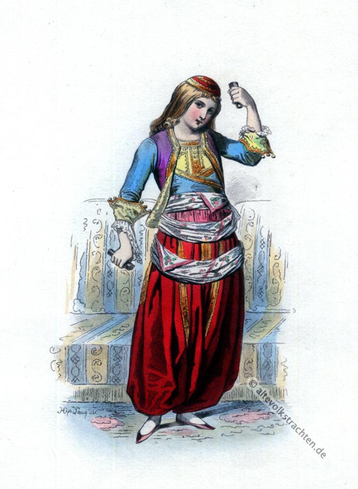 Trachten, Tänzerin, Griechenland, Balkan, Kostüm, Kostümgeschichte