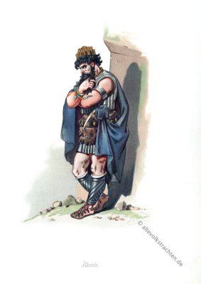 Alberich. Germanische Heldensage. Kostüm design. Das Rheingold. Der Ring des Nibelungen. Komponist Richard Wagner. Deutsche Oper.