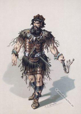 Nibelunge Alberich. Kostüm design. Germanische Heldensage. Das Rheingold. Der Ring des Nibelungen. Komponist Richard Wagner. Deutsche Oper.