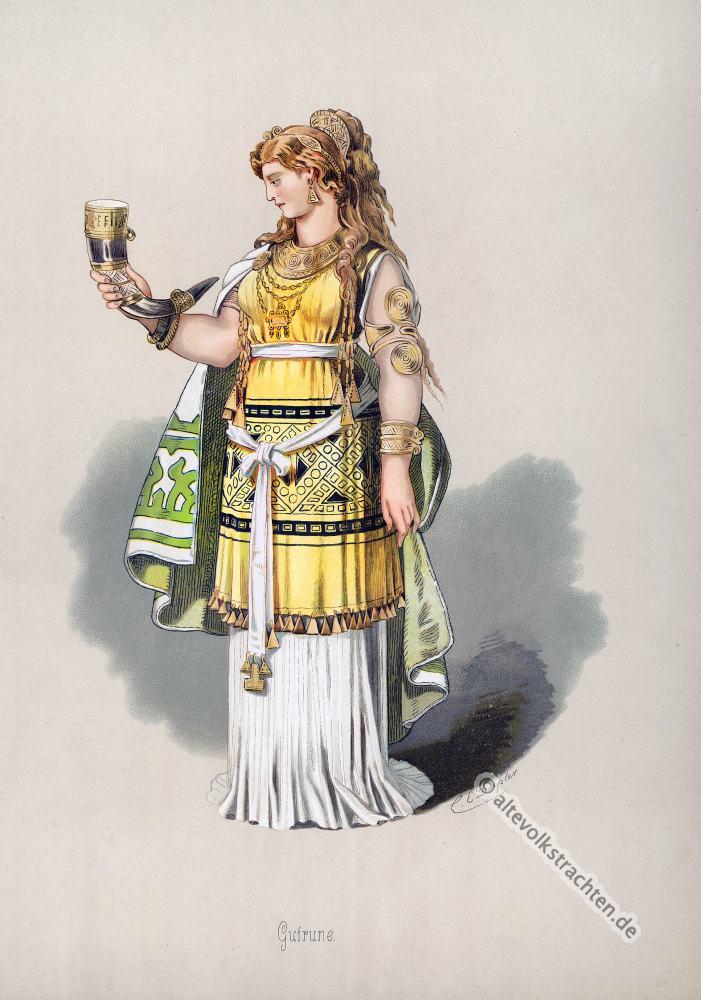 Gutrune, Kostüm, Rheingold, Nibelungen,Richard Wagner