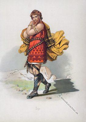 Loki. Germanischer Gott. Kostüm design. Das Rheingold. Der Ring des Nibelungen. Komponist Richard Wagner. Deutsche Oper. Germanische Heldensage.