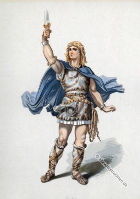 Siegfried. Kostüm design. Das Rheingold. Der Ring des Nibelungen. Komponist Richard Wagner. Deutsche Oper. Ring-Zyklus. Carl Emil Doepler.