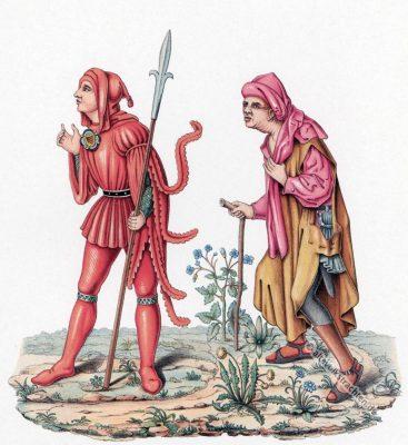 Kostümgeschichte, Gerichtsdiener, Bauer, Gewandung, Mittelalter, Kostüm, Burgund, Gotik,
