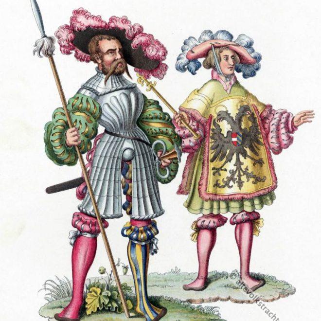 Landsknechte, Herold, Mode, Renaissance, 16. Jahrhundert, Militär, Modegeschichte, Kostümgeschichte,