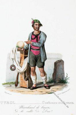 Tipi costumi Pusteria Tirolo, Trachten, Butterhändler, Tirol, Duxer Tal, historische Kostüme, Modegeschichte, Kostümgeschichte, Österreich, Historische Kleidung,