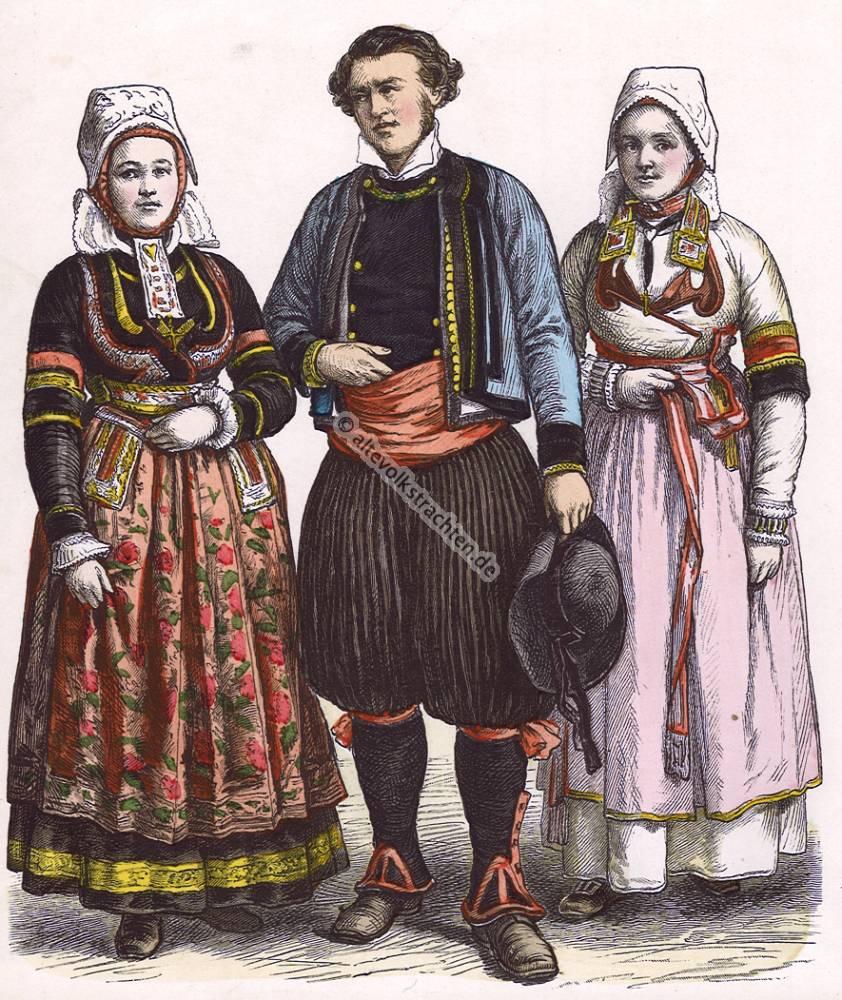 Trachten Der Bretagne Im 19 Jahrhundert M Nchener