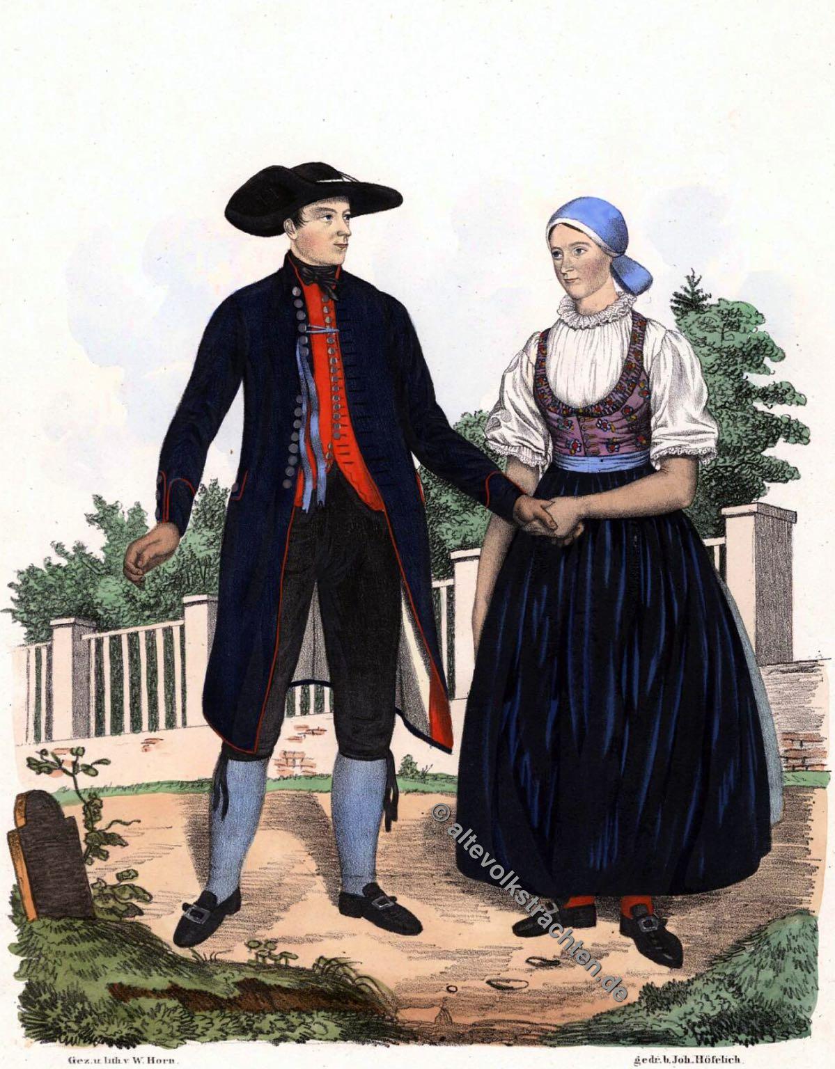Traditionelle Brünner Tracht, Brünn, Lösch, Mähren Trachten, Bauerntrachten, Modegeschichte, Kostümgeschichte, historische Kostüme, Tschechien, Sudetenland