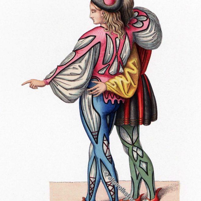 Renaissance Kostüme. Italienische Trachten. Dr. J. H. von Hefner-Alteneck. Kleidung des Mittelalters. Mi-Parti