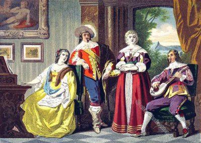 Mode. Stuart Kostüm. Barock. England. Aristokratie.