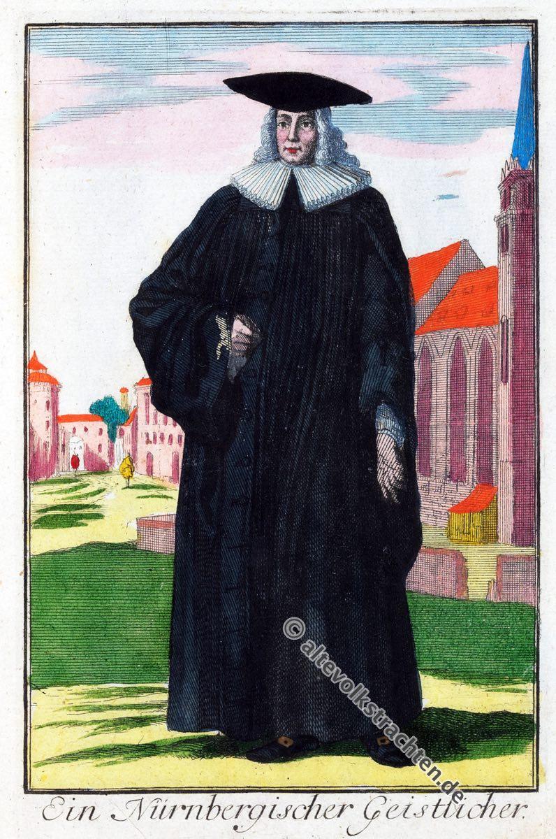 Barock, Mode, Kostüm, Geistlicher, Pfarrer, Kirchlich, 18. Jahrhundert, Geschichte, Epoche, Bekleidung, Soutane