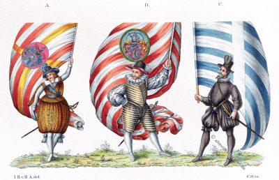 Studenten, 16.,17. Jahrhundert, Kostüme, Gewandung, Barock, Kostümgeschichte, Modegeschichte