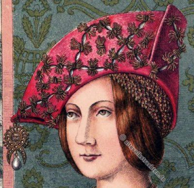Deutsche Kaiserin Bianca Maria Sforza, Hans Holbein, Portrait, Hut