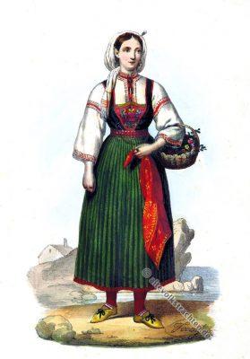 Bäuerin Tracht, Zadar, Kroatien, Dalmatien, Balkan