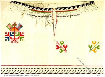 Pinosava, Пиносава, Frauenhemd, Serbien, Stickerei, Stickmuster, Modegeschichte, Kostümgeschichte, Felix Lay,