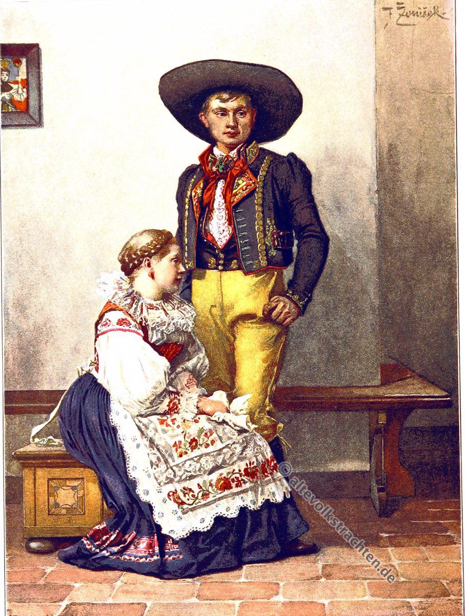 Choden, Chodové, Chodsko, Domažlice, Tschechien, Trachten, Nationaltracht, Kostümgeschichte, historische Kleidung